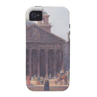El panteón y el della Rotonda de la plaza en Roma iPhone 4/4S Carcasas