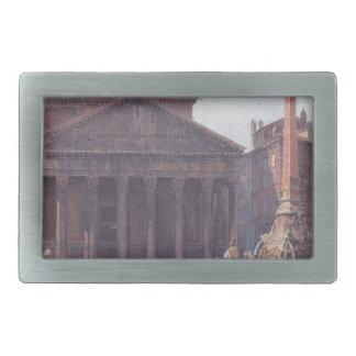 El panteón y el della Rotonda de la plaza en Roma Hebillas Cinturón Rectangulares