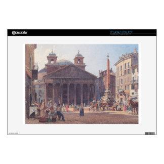 El panteón y el della Rotonda de la plaza en Roma Portátil 38,1cm Skin