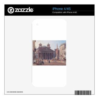 El panteón y el della Rotonda de la plaza en Roma Calcomanía Para iPhone 4