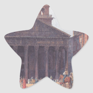El panteón y el della Rotonda de la plaza en Roma Pegatina En Forma De Estrella