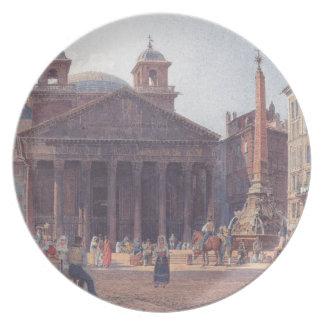 El panteón y el della Rotonda de la plaza en Roma Platos De Comidas
