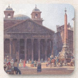 El panteón y el della Rotonda de la plaza en Roma Posavasos De Bebida