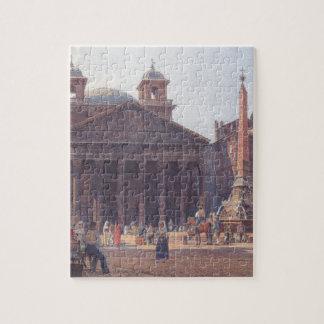El panteón y el della Rotonda de la plaza en Roma Puzzles