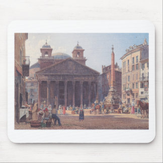 El panteón y el della Rotonda de la plaza en Roma Alfombrillas De Ratones