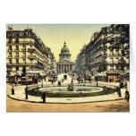 El panteón y la ruda Soufflot, París, Francia c Tarjeton