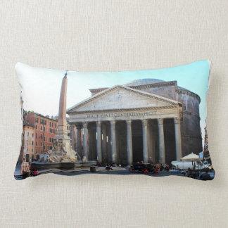 El panteón y su cuadrado famoso en Roma, Italia Cojín