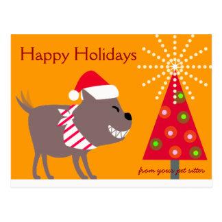 El pañuelo árbol-naranja persigue y del navidad postal