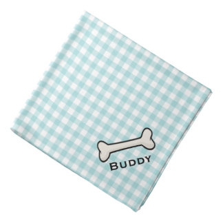 El pañuelo azul y blanco del perro de la guinga bandanas