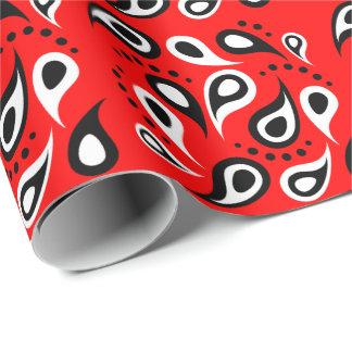 El pañuelo rojo de la cadera imprime Paisley y Papel De Regalo