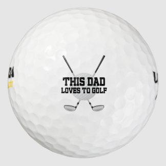 El papá ama el Golfing de pelotas de golf del Pack De Pelotas De Golf