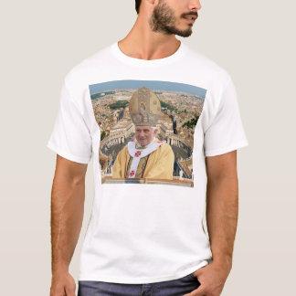El papa Benedicto XVI con la Ciudad del Vaticano Playera