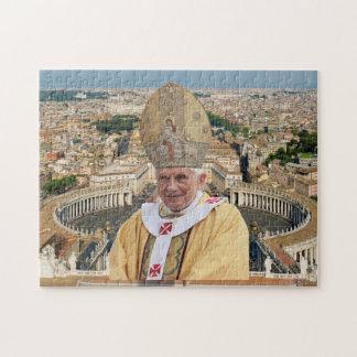 El papa Benedicto XVI con la Ciudad del Vaticano Rompecabezas Con Fotos