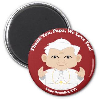 El papa Benedicto XVI Imán Redondo 5 Cm