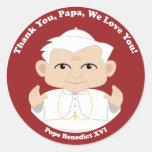 El papa Benedicto XVI Pegatina Redonda