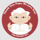 El papa Benedicto XVI Pegatinas Redondas