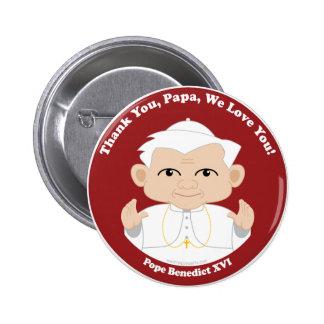 El papa Benedicto XVI Pin Redondo De 2 Pulgadas