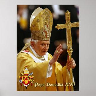El papa Benedicto XVI Póster