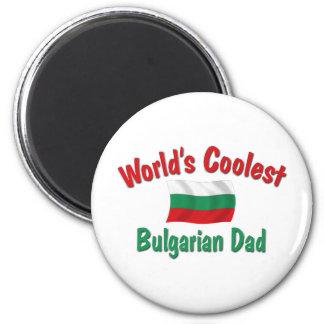 El papá búlgaro más fresco imán redondo 5 cm