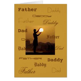 El papá captura el sol tarjetón