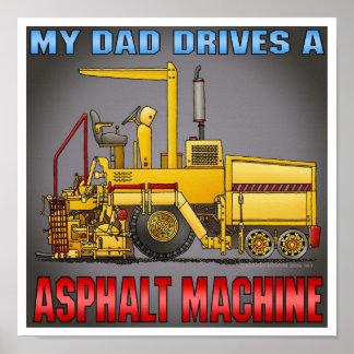 El papá conduce una impresión del poster de la