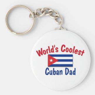El papá cubano más fresco llavero redondo tipo pin