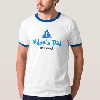 El papá de Aiden - nuevo papá [en el Playera