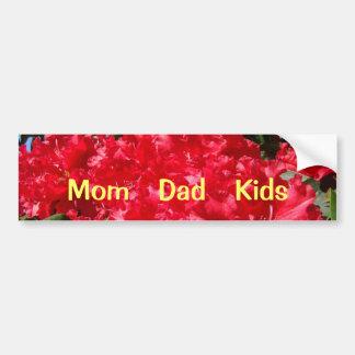 El papá de la mamá embroma el rojo Rhodies de las  Pegatina Para Auto