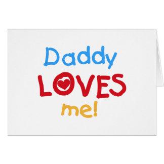 El papá de los colores primarios me ama las tarjeta de felicitación
