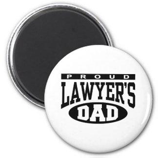El papá del abogado orgulloso imán redondo 5 cm