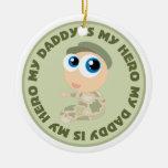 El papá del bebé del soldado es mi regalo del orna ornamentos de reyes