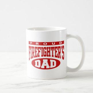 El papá del bombero orgulloso taza