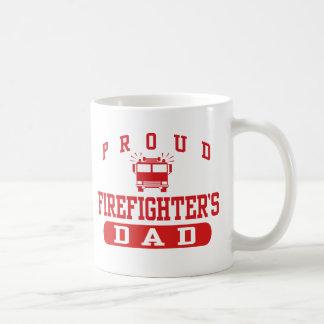 El papá del bombero taza básica blanca