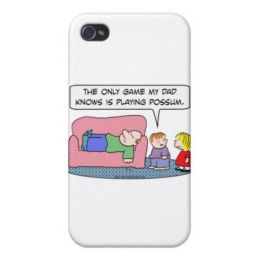 el papá del juego sabe jugar a niños del oposum iPhone 4 coberturas