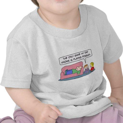 el papá del juego sabe jugar a niños del oposum camiseta
