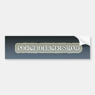 El papá del oficial de policía etiqueta de parachoque