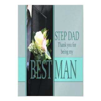 El papá del paso le agradece el mejor hombre - invitaciones magnéticas