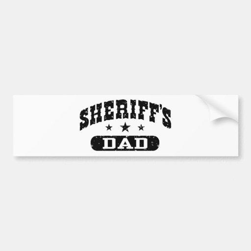 El papá del sheriff pegatina de parachoque