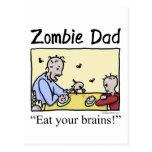 El papá del zombi, come sus cerebros tarjeta postal