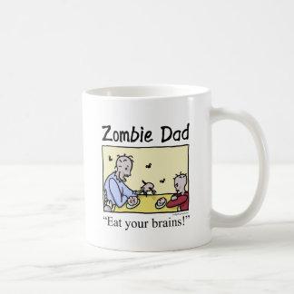 El papá del zombi, come sus cerebros tazas