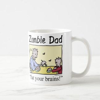 El papá del zombi, come sus cerebros taza