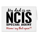 El papá es agente especial de NCIS Tarjeta