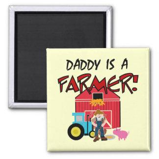 El papá es camisetas y regalos de un granjero imán de frigorífico