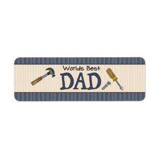 El papá es el mejor etiqueta de remite