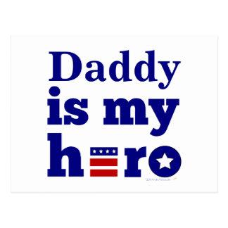El papá es mi blanco rojo patriótico del héroe y a postal