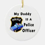 El papá es oficial de policía adorno de reyes