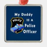 El papá es oficial de policía ornamento para arbol de navidad
