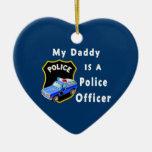 El papá es oficial de policía ornamento de navidad
