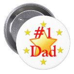 El papá es un botón de la estrella pin