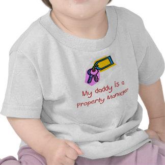 El papá es una camiseta del bebé del administrador